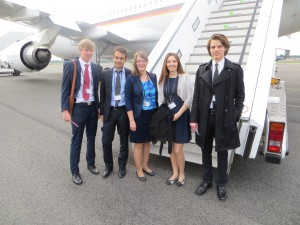 The German 'Generation Freedom' delegation with Sarah Grandke in the middle | Photo: Katharina Dziuk