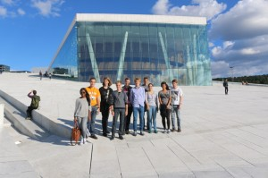 Participants in front of Oslo's famous Opera house