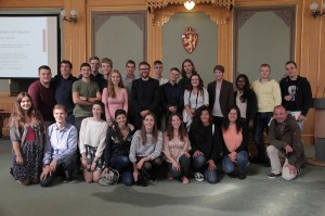Group with Stefan Heggelund, member of the Norwegian Parliament