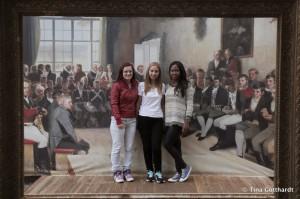 Bloggers Petra (Slovakia), Dorin (Israel) and Tancia (Germay) in Eidsvoll