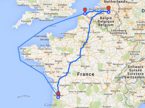 The way Hilda took druing WWII. Credit: Private, Maps: GoogleMaps