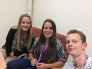 Blog-Selfie: Heidi, Nina, Antonius