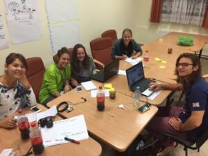 Late night blogging: Caroline, Barbara, Bodil, Johana and Nedislav