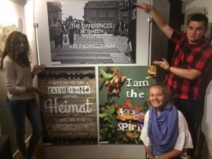 Maelle (France), Andreyan (Bulgaria) and Lucija (Slovakia) presenting their photo art
