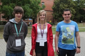 First Day's Bloggers: Ashley, Ghislaine, Andreyan