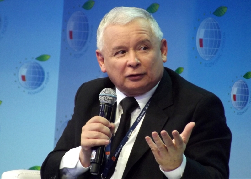 "Jarosław Kaczyński, leader of the right-wing populist party ""Law and Justice"""