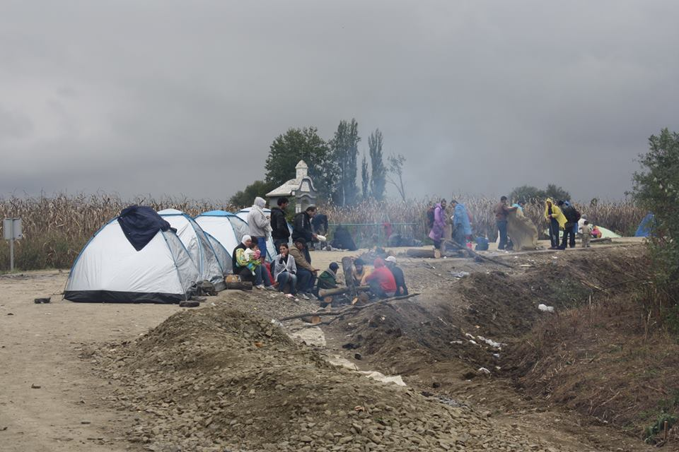 Border crossing Jamena - Strošinci, between Serbia and Croatia, October 2015 Photo: Žarka Radoja