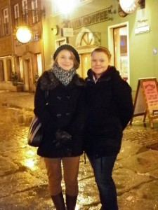 Martyna (left) was our guide in Gdansk. Studying architecture, she was able to give us a lot of information of the history of the town through its buildings.