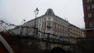 Copengahen through rain.