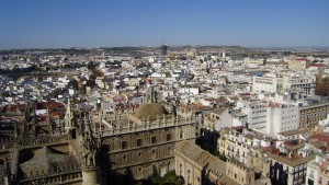 Getting the beautiful view of Sevilla was worth the long climb to the tower.