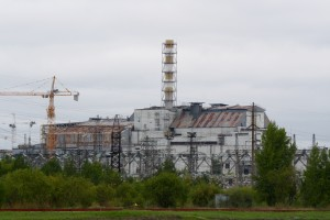 The damaged Chernobyl Nuclear Power Plant. Photo: (c) Theresa Arlt.