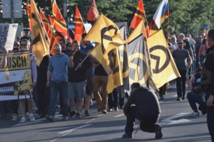 A demonstration of the Identitarian movement