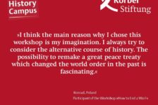 Why did you choose the workshop »How to End a War?«?