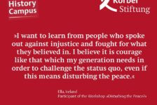 Why did you choose the workshop »Disturbing the Peace?«?