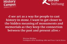 Why did you choose the workshop »War and Peace Cast in Stone«?