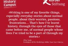 Why did you choose the workshop »Write Your Own History«?