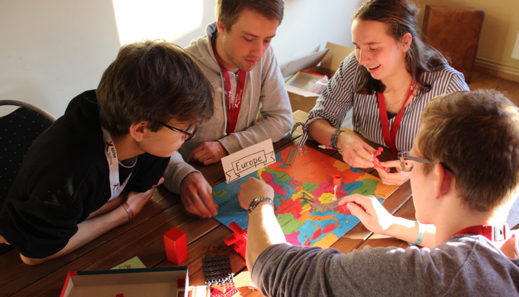 Participants mapping their view on Europe