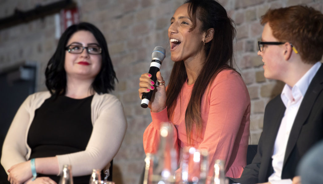 Afua Hirsch during the panel discussion at the opening ceremony