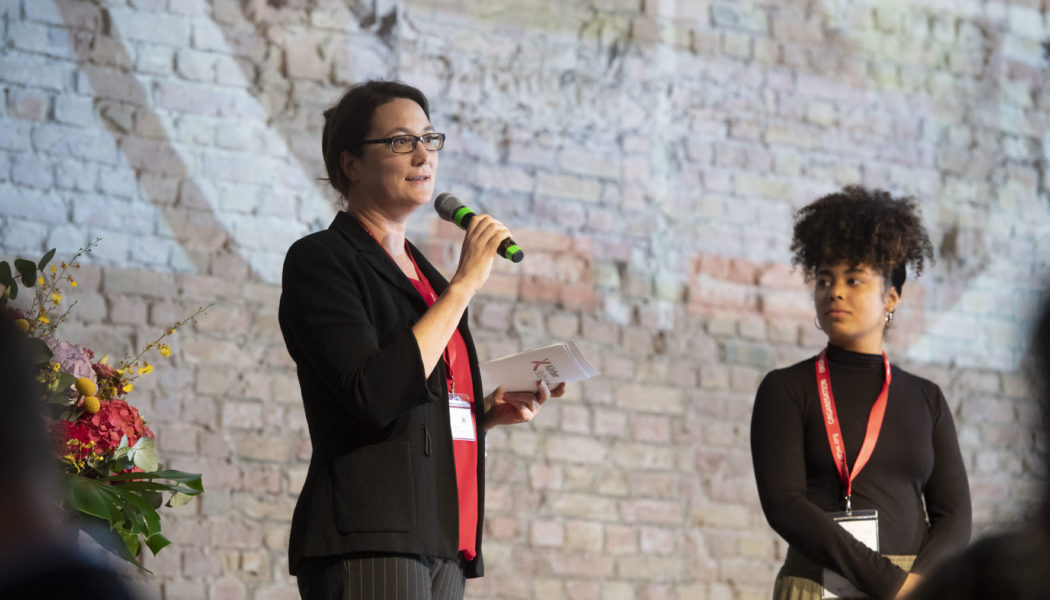 EUSTORY Managing Director Katja Fausser of the opening ceremony at the EUSTORY Summit