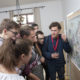 young people in front of a map of Europe