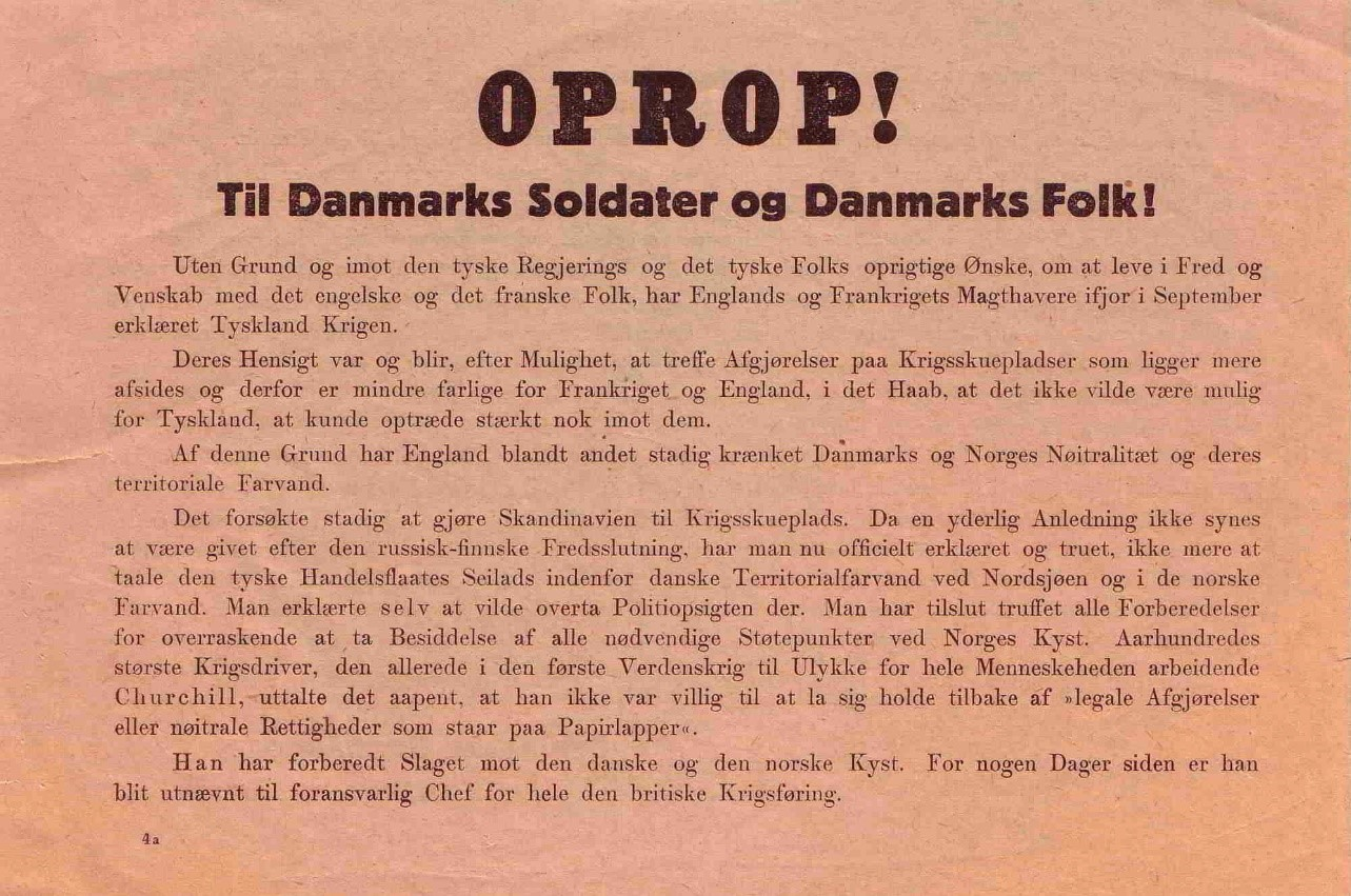 Leaflet in Danish