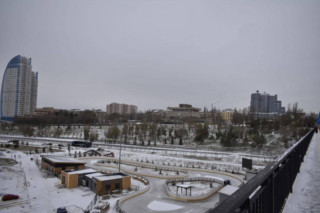 Tsaritsa river floodplain view from the Astrakhansky bridge.