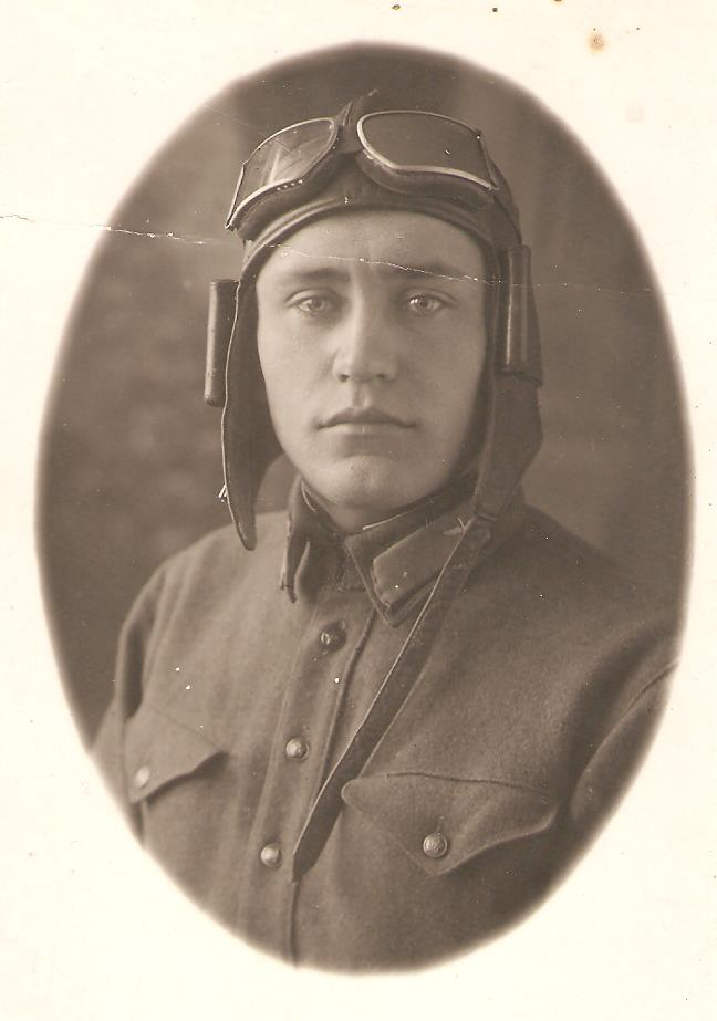 Valeriya's grandfather in the early 1930's in his military pilot uniform.