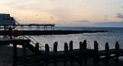 pier with the sea in the foreground