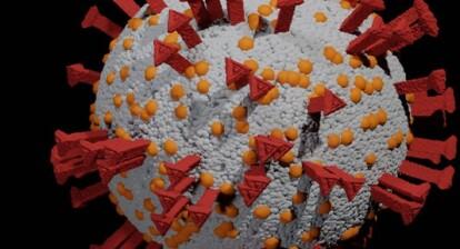 depiction of covid-19 virus